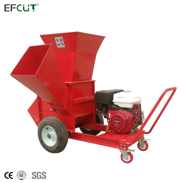 EFCUT Super Heavy Duty 15 HP 420cc Wood Chipper Shredder Mulcher for Chipping Coconut Shell with CE