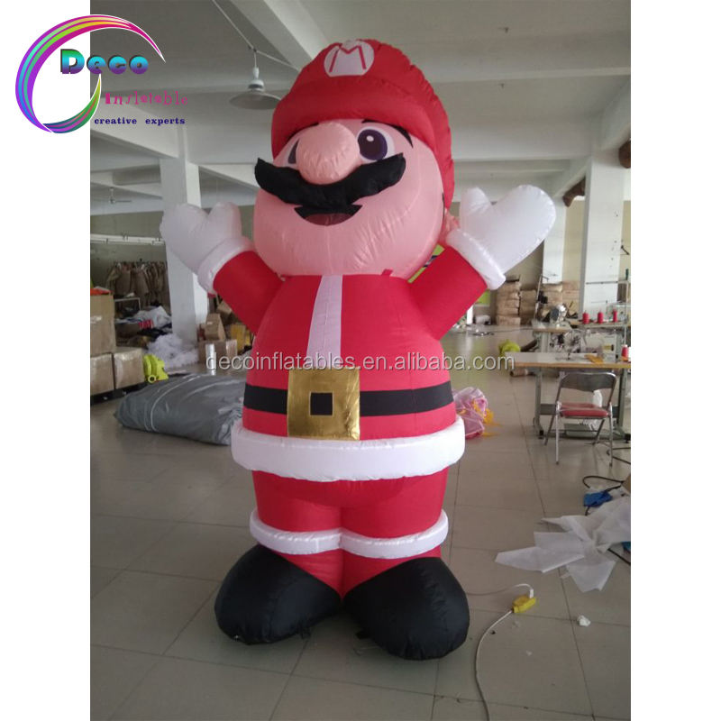 Outdoor Advertising inflatable bearded game character Santa Claus