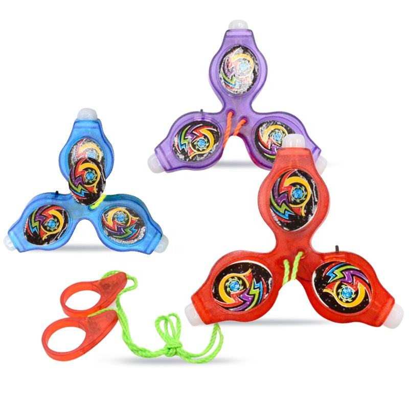 new plastic whistle with light gyro spinning top toy for kids
