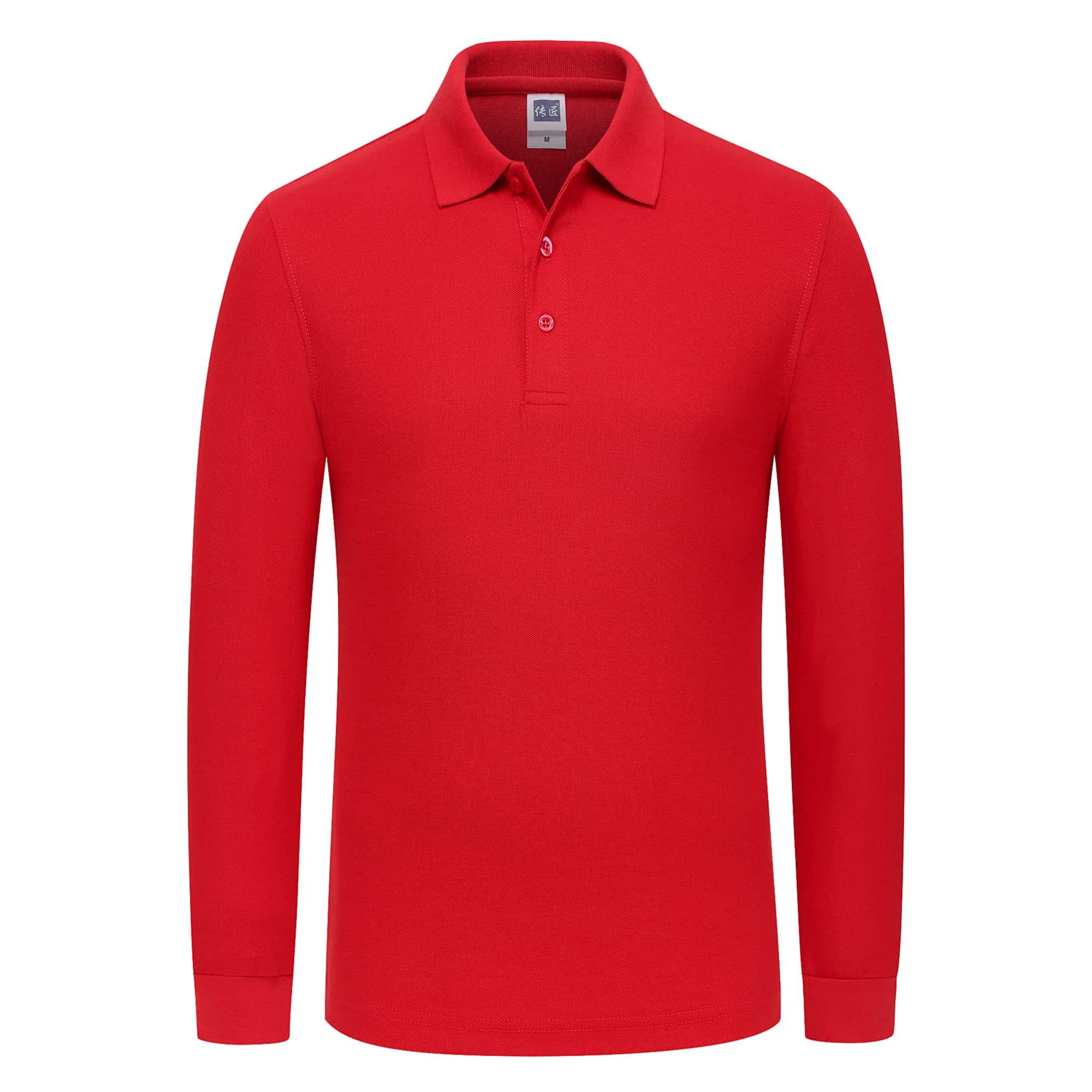 Highly cost effective custom long sleeve polo shirt printing plain polo men
