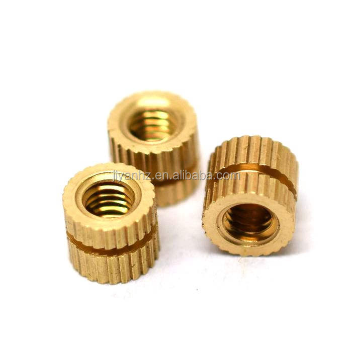 M5 Brass insert nut Injection Molding Brass Knurled Thread Inserts Nuts