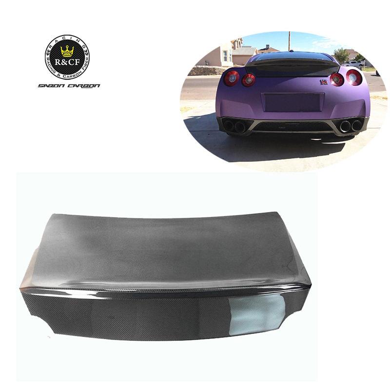 08-15 R Style FRP Duckbill Trunk For Nissan GTR R35//// Matte Black Finish