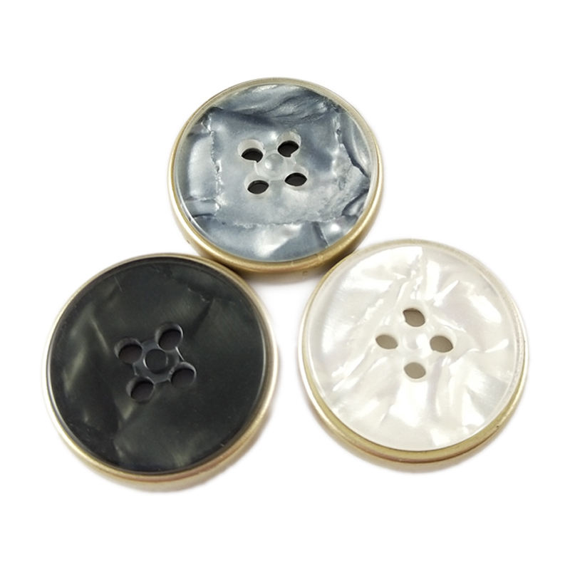 high quality new design resin plastic flat buttons 4 hole women overcoat buttons