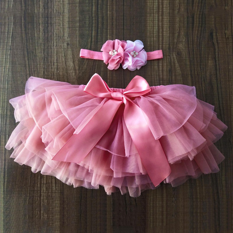 Baby Girls Beautiful Chiffon Fluffy Pettiskirts Tutu Princess Party Skirts Ballet Dance Wear Pettiskirt