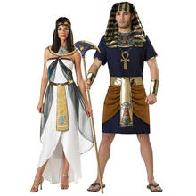 Factory hot sale Halloween adult Egyptian women Cleopatra men Pharaoh costumes