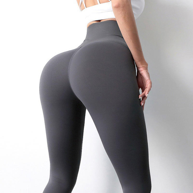 Europe and the United States the new yoga pants leggings female add hair thickening waist belly in carry buttock of tall waist