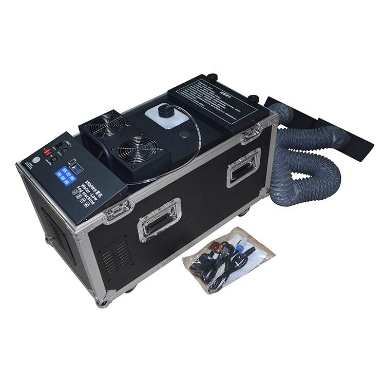 Guangzhou Great Effect Dmx512 3000w Water Fog machine Led low smoke Fog Machine Ce Rohs low liquid smoke machine