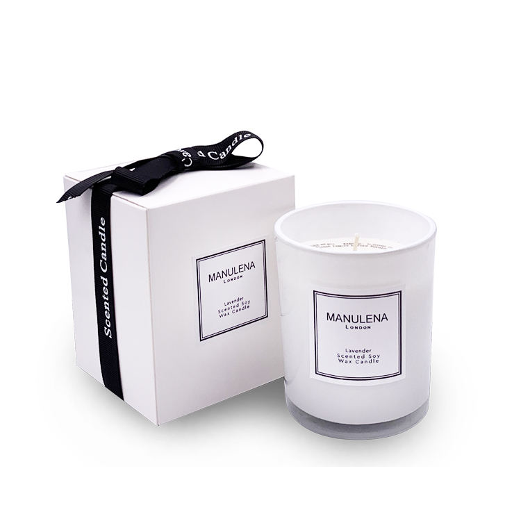 MANULENA luxury scented candles soy wax and fragrance oils aromatherapy aroma candles with glass jar tin gift box