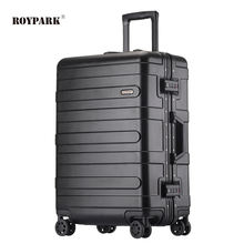 Low MOQ Cheap High Quality Aluminum Luggage Waterproof Carryon travel suitcase set