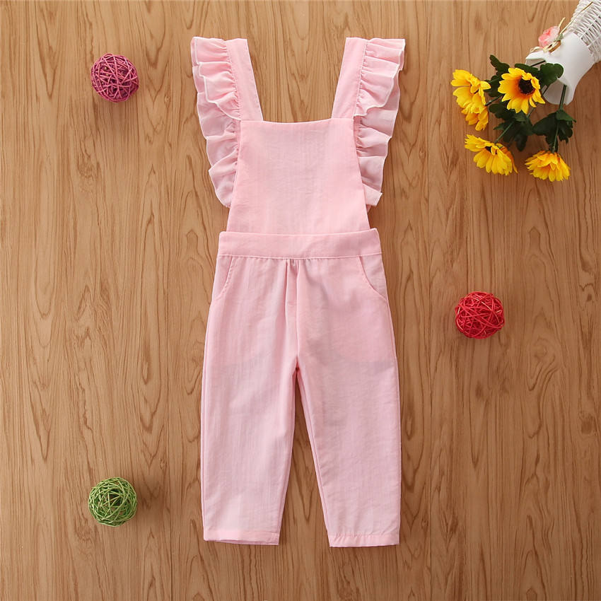 Lovely Children's clothing BABY jumpsuit cotton sleeveless romper Casual Jumpsuit Overalls Outwear