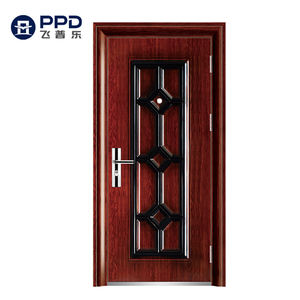 Phipulo 2020 Modern Design Cheapest Price Wrought Iron Door Used Metal Security Steel Door