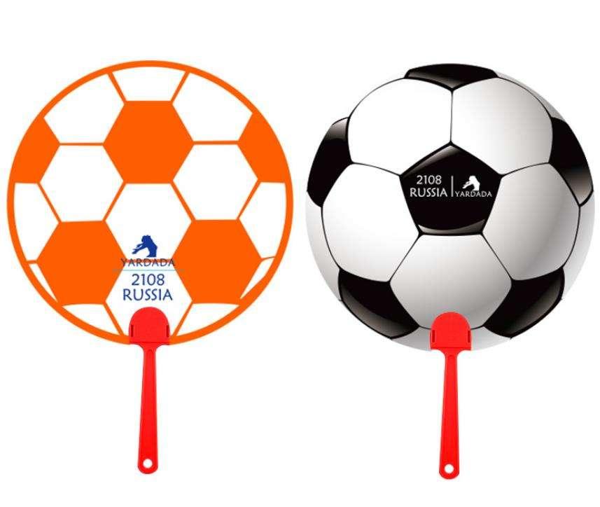 Color cute fashion world cup football summer plastic hand fan holder