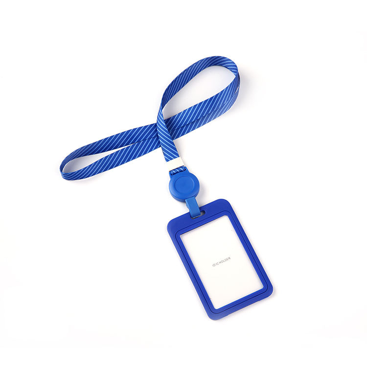 Double-sided card plus lanyard work employee id mobile card holder