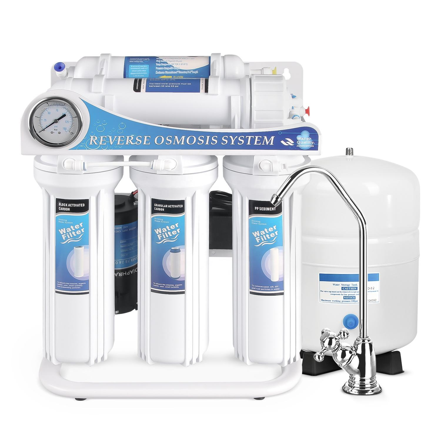 5 stage undersink reverse osmosis water filter system