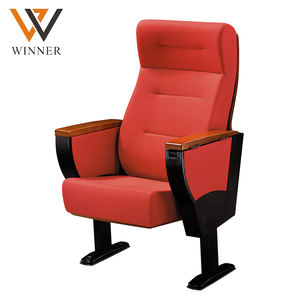 Optional color outdoor cinema concert hall auditorium chair movable Metal folded chairs theatre chairs