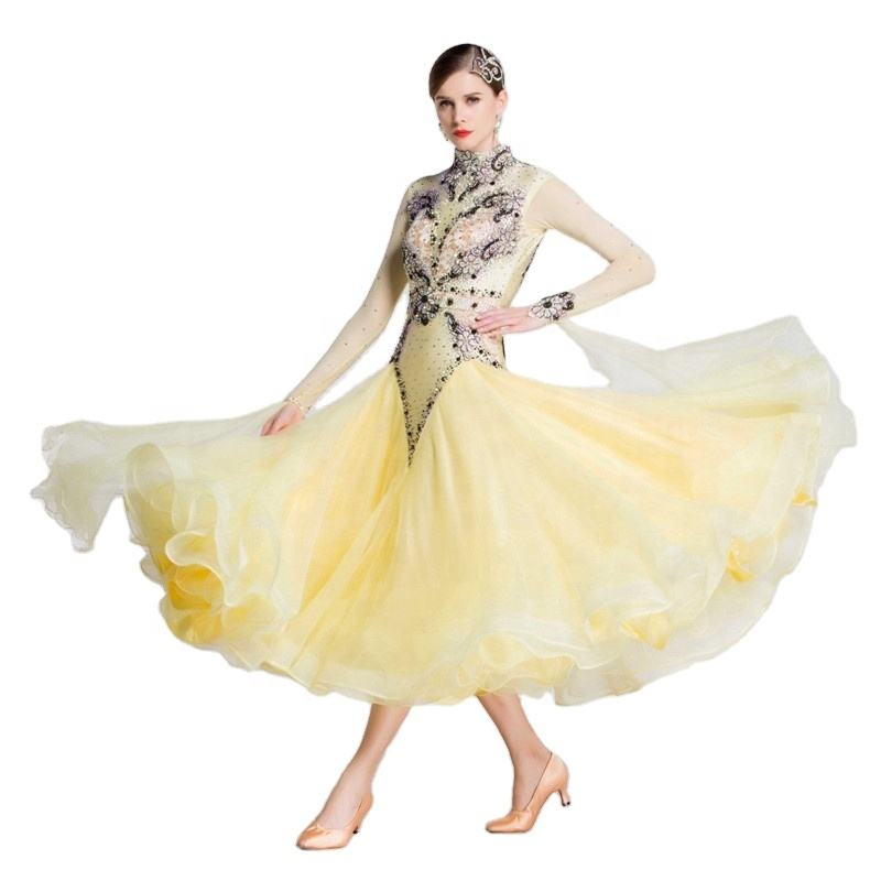 B-18180 Ready Made Ballroom Dance Dresses Women Perfect Custom Made Standard Smooth Ballroom Dresses For Children