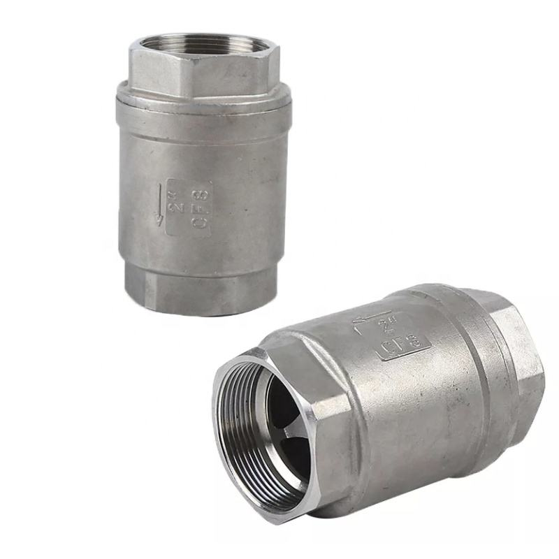 stainless steel 304 3/8 inch vertical check valve High pressure 1000wog SS 304 water supplying 304 check valve