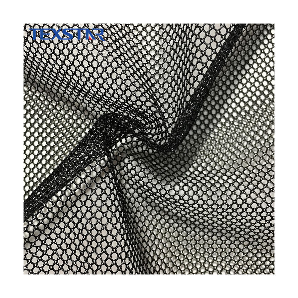 China Professional Heavy Duty 100% Poly Mesh Net Fabric for Office Chair or Bassinet