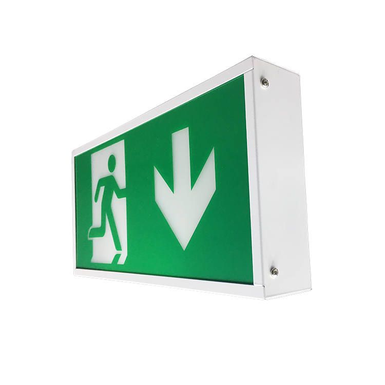 Exit Safety Sign 12V Led Lamp Emergency Light With Rechargeable Battery