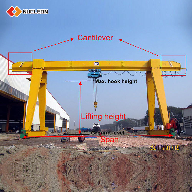 China Mould Lifting 10 Ton Single Girder Hydraulic Mobile Gantry Crane Price