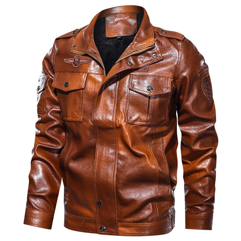 Newest men used motorcycles bicycle mountain leather jacket red