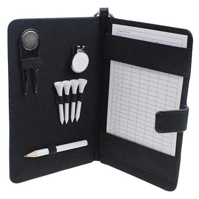 Noble Genuine Leather Golf Scorecard Organiser Holder Golf Scorecard Holder