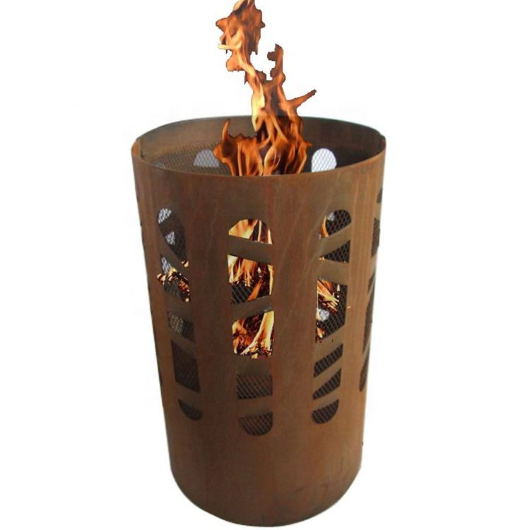 Tuin Outdoor Party Houtgestookte Art Piramide Corten Staal Fire Kuilen