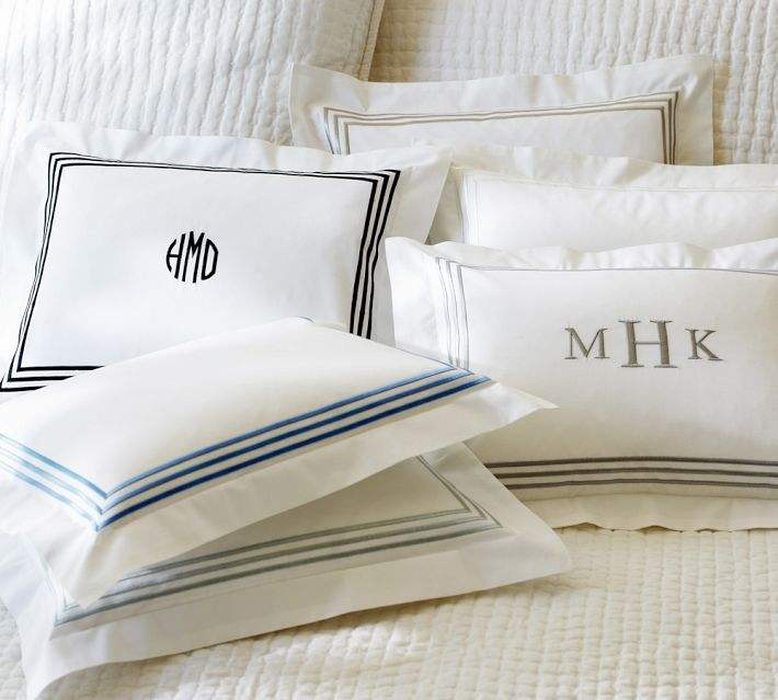 Hotel and Hospital Brand Logo Embroidery Pillow Case/Pillow Cover