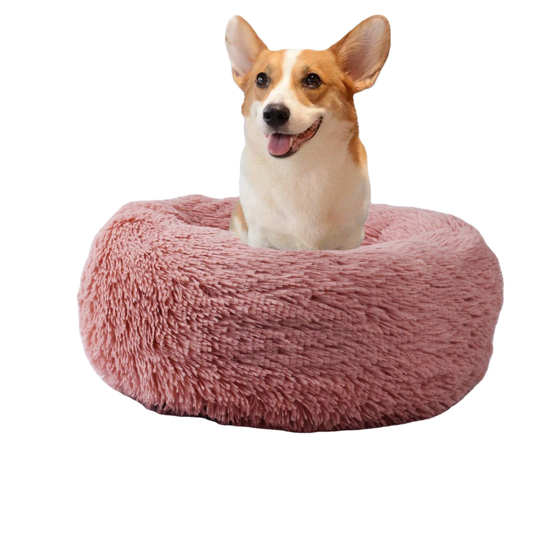 YangyangPet 2021 Comfortable Donut Cuddler Round Dog Bed Soft Washable Dropshipping Cat and Dog Bed