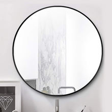 4mm 5mm circle crystal wall aluminum european style frame mirror for home decoration