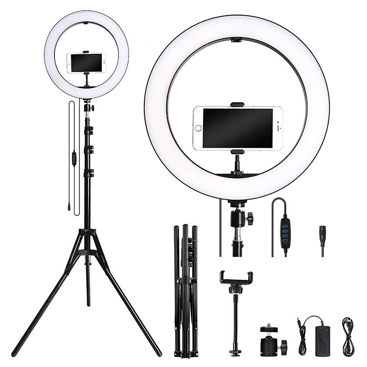36cm / 14 inch Ring Light Kit ring light with adjustable tripod stand Live makeup ring light for tik tok Youtube live streaming