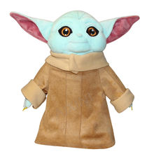 2020 hot sale 27cm Blue Baby Yoda Plush Toys Soft Stuffed Animal Doll Kids Gift teacher of skywalker may the force be with you