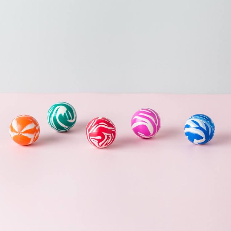 China suppliers solid color marble rubber high bouncing ball bulk small bouncy balls