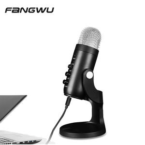 USB Boom Studio Condenser Condensor Microphone Set For Radio Pc Recording Youtube Streaming Podcast