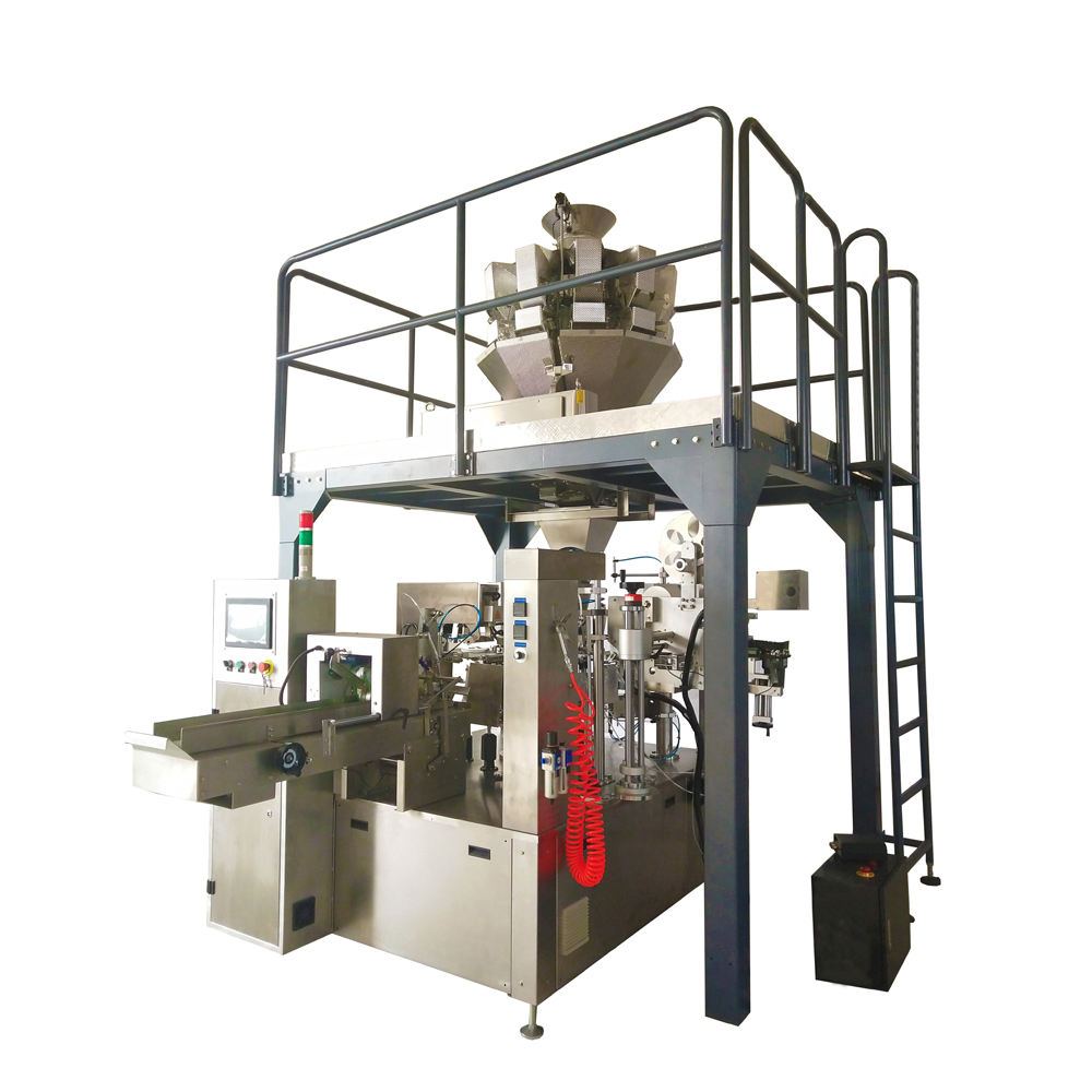Multigead Weigher Rotary Premade Bag Packing Machine