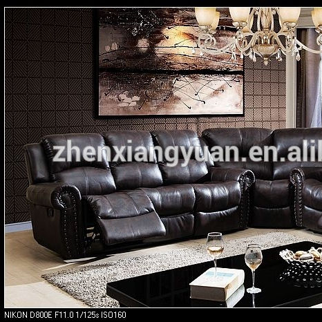 2020 Home Furniture contemporary corner recliner brown leather Air recliner sofa with cheap price