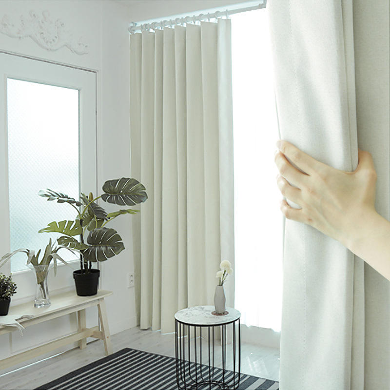Direct sales blackout curtains pure color luxury shop theater used brooch fabric bedroom curtains