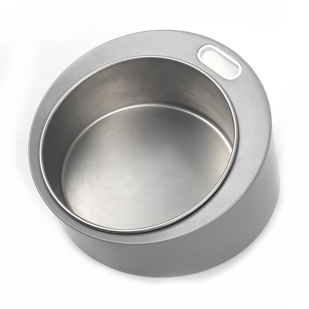 OEM Dog Bowl Electronic Scale Luxury Metal Pet Dog Eating Bowl Weight Water And Food Bowl