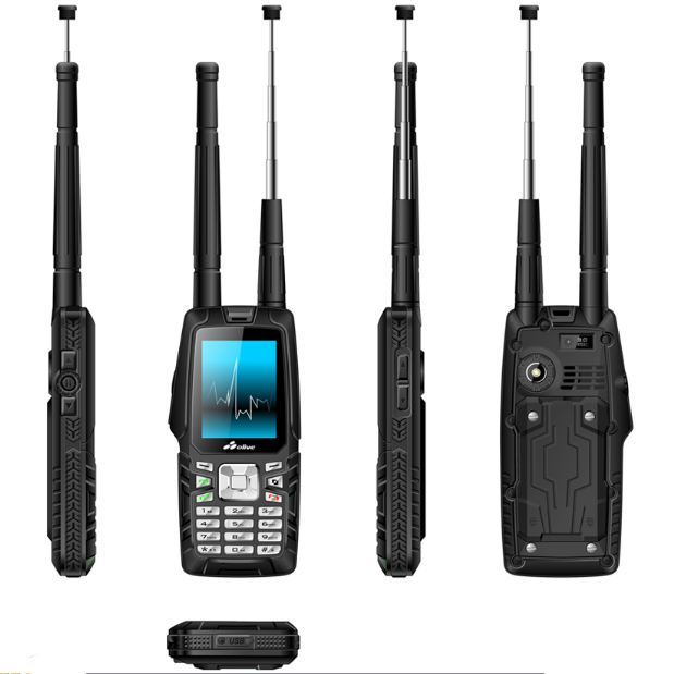 Gsm cdma 450 mhz mobile phone antenna W18 walkie talkie with sim card 3000mAh handset