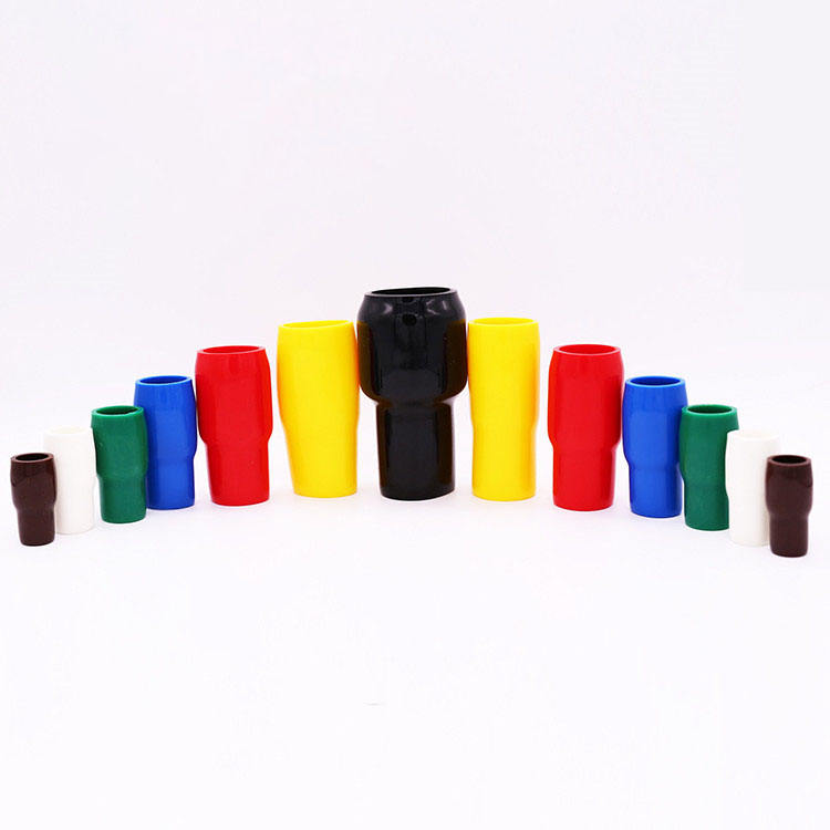 QWT custom V1.25 13mm vinyl pvc rubber hhc series insulated end terminal cap cable lug soft pipe sleeves covers tube