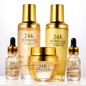 Private Label Kosmetik Emas Korea Perawatan Kulit Wajah Gold 24 K Set