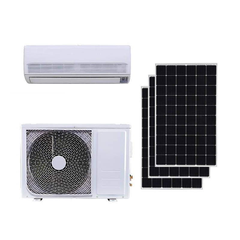 JNTECH 12000 Btu ac dc inverter split solar air conditioner with competitive price