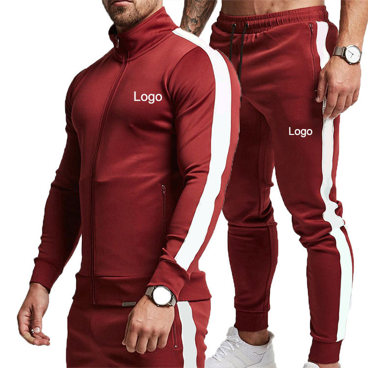 New Design Vintage Team Tracksuit Cheap Slim Fit Fitness Mens Track Suit