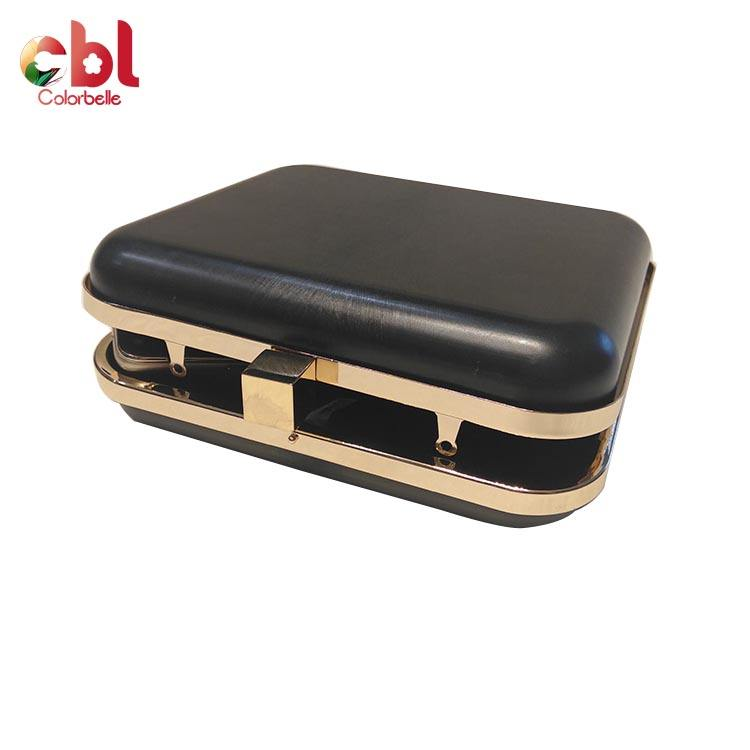 Factory Price 17*15.5cm Cm Metal Box Purse Frame Square Shape Box Clamshell Clutch Frame