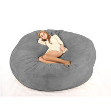 dropshipping Microsuede 7ft foam bean bag,memory foam bean bag lazy sofa factory