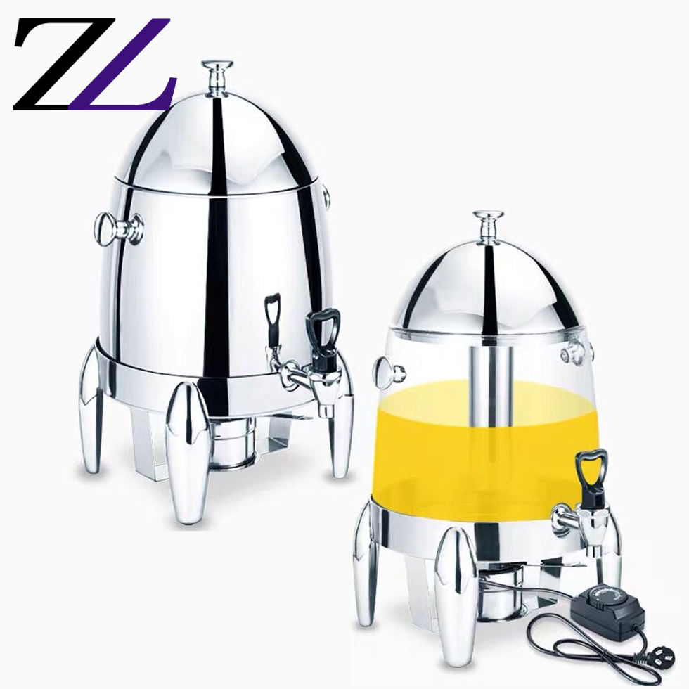 Hotel gastvrijheid everbright elektrische brandstof juicer dispenser hot koud buffet warmer koffie urn iced sap melk thee dispenser