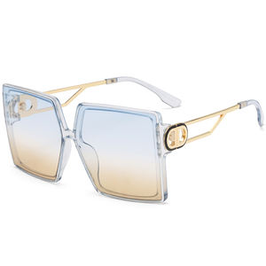 New product UV400 custom your own brand plastic frame oversized lens sunglasses