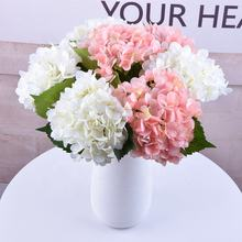 Wholesale Single Stem 3d Printing Artificial Silk Flowers Real Feel Latex Hydrangea For Home Wedding Decoration