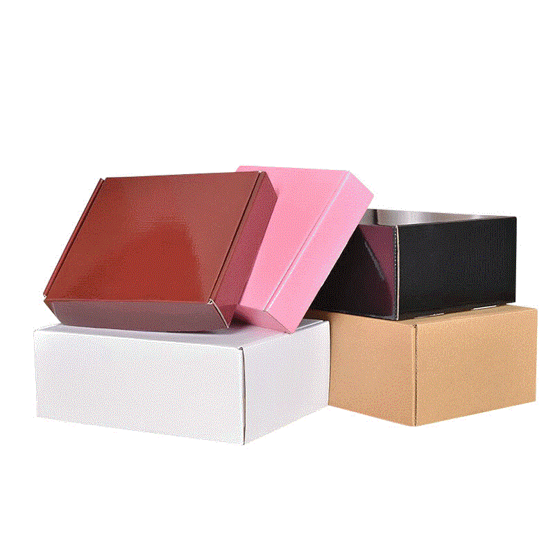 Custom Black Plain Kraft Corrugated Small Paper Ship Boxes With Logo