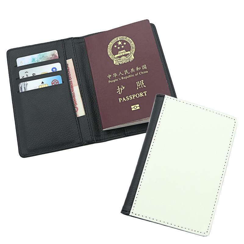 New products 2019 personalized sublimation blank leather passport holder